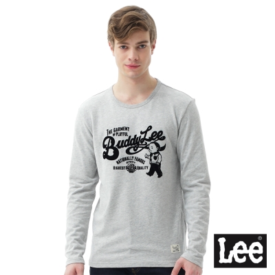 Lee Buddylee長袖圓領T恤/RG-男款-灰
