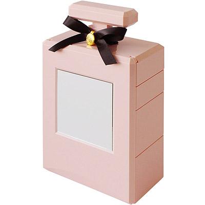 Sceltevie 香水附鏡珠寶盒(粉紅)