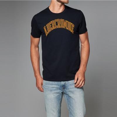 A&F 經典文字短袖T恤-深藍色 AF Abercrombie