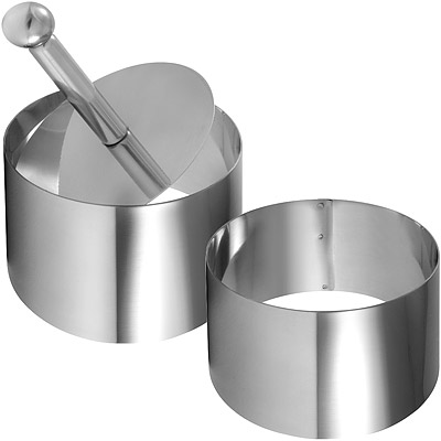 GP&me Dolce不鏽鋼塑型環+壓器(圓7.5cm)