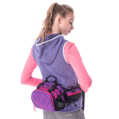 【hilltop山頂鳥】中性款多功能腰包/背包T29X94紫