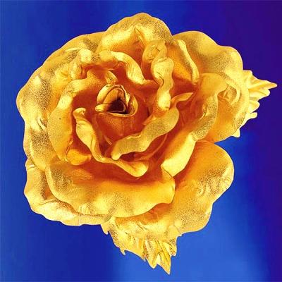 純金 玫瑰&康乃馨胸針禮物