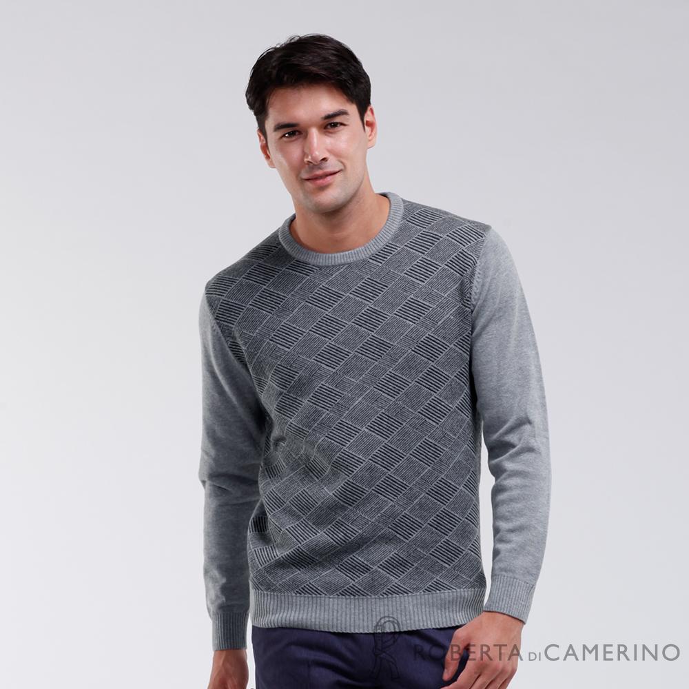 ROBERTA諾貝達 台灣製 經典呈現 高質感純羊毛衣 灰色