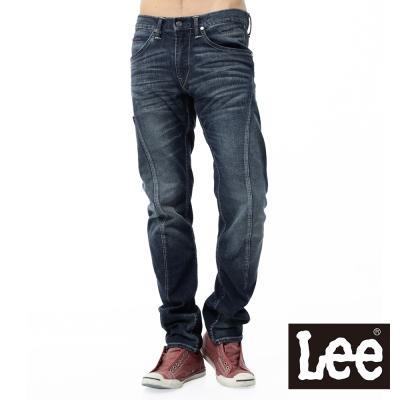 Lee 牛仔褲755 3D低腰保暖標準小直筒-男款-中藍