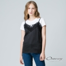 OUWEY歐薇 甜美俏皮兩件式上衣(黑)