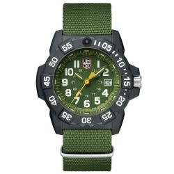 LUMINOX 雷明時NAVY SEAL 3500全新海豹2代系列腕錶-軍綠/45mm