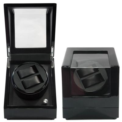 WISH 機械腕錶自動上鍊盒‧<b>2</b>只裝-全黑鋼琴烤漆