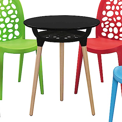 H&D 黑色造型圓桌 (寬60X深60X高72cm)