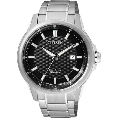 CITIZEN Eco-Drive超級鈦時尚腕錶(AW1490-84E)-黑/42mm