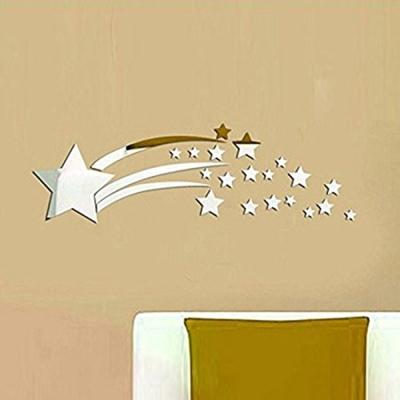 Pond's 無痕壁貼 跳躍的星星3D立體壓克力鏡面貼(70*25cm)
