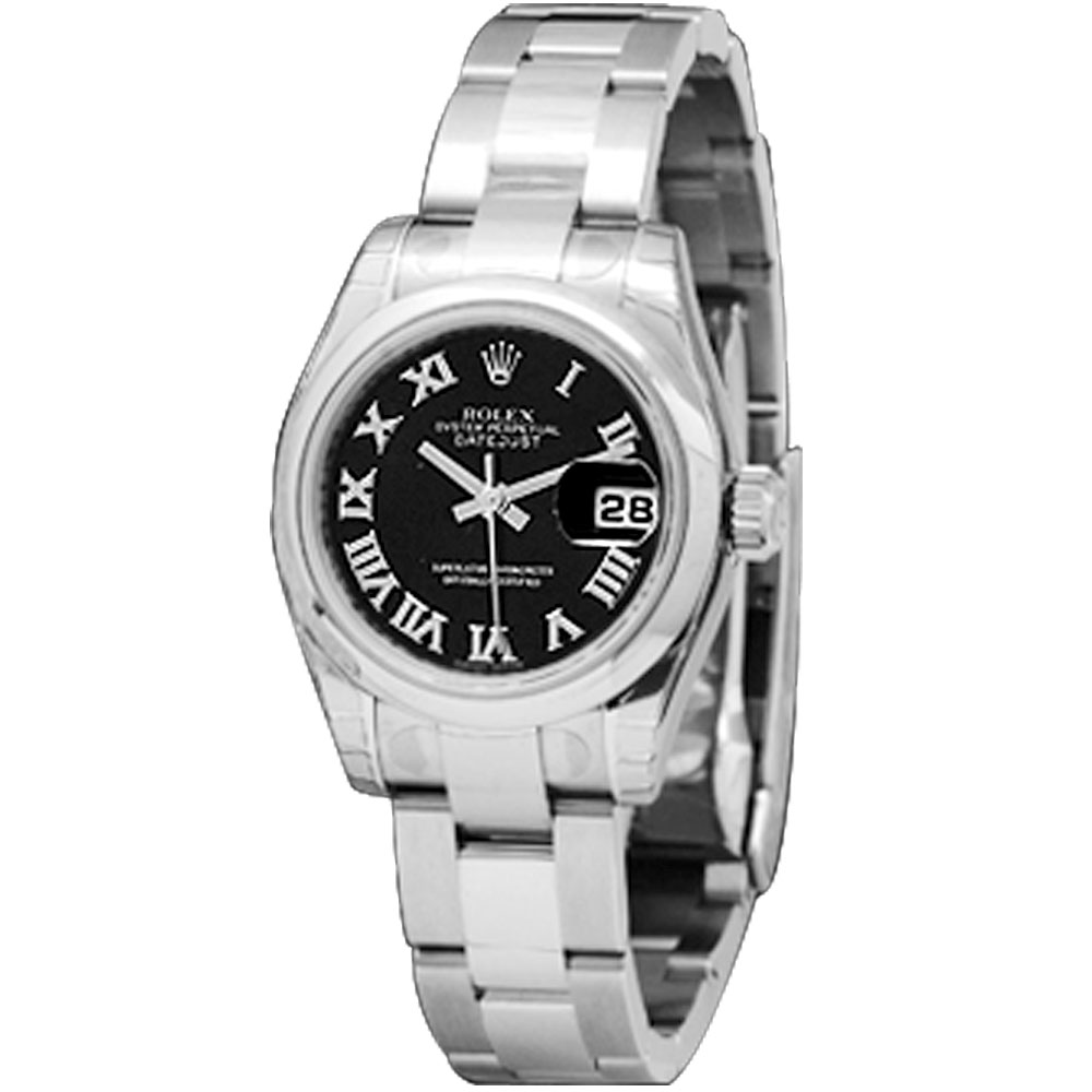 ROLEX 勞力士 Datejust 179160 蠔式日誌型機械錶-黒/羅馬面/26mm