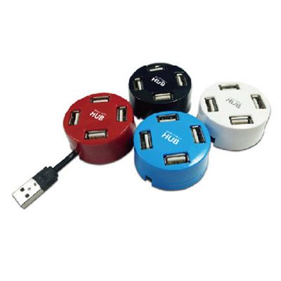 AXPRO華艦 USB2.0 圓桌武士集線器 (AXP815)藍色
