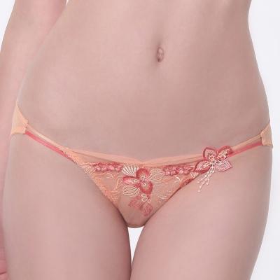 【LADY】天堂樂園系列 低腰三角褲(珊瑚橘)