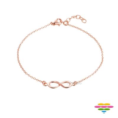 彩糖鑽工坊 愛無限符號手鍊 銀鍍玫瑰金手鍊 桃樂絲 Doris系列