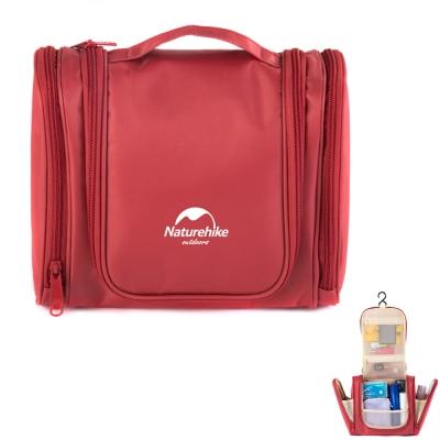 PUSH! 旅遊用品防水防撕裂盥洗用具包便攜出差洗簌牙刷包(頂級款)S43-2桃紅色