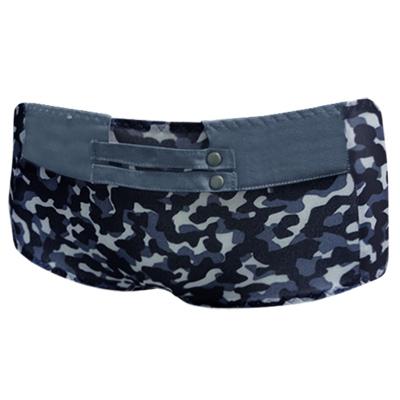 【瑪登瑪朵】好迷彩  低腰平口萊克褲(探險藍)