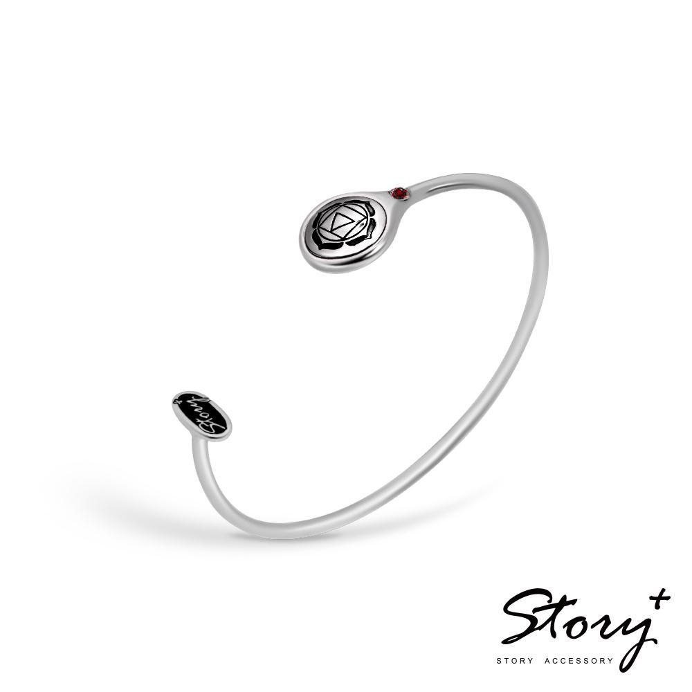 STORY故事銀飾-脈輪系列-海底輪Root Chakra純銀手環