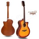 enya 41吋 雲杉木面板 胡桃木琴身 民謠吉他-漸層色(EAG40-SB)送超值五寶