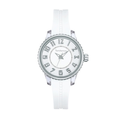 Tendence 天勢錶 小錶盤28系列-銀白/28mm