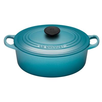 LE-CREUSET-琺瑯鑄鐵橢圓鍋-25cm-加勒比海藍