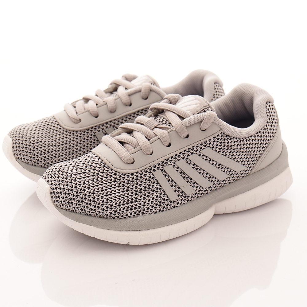 K-SWISS童鞋 針織綁帶款 010灰(中小童段)T2