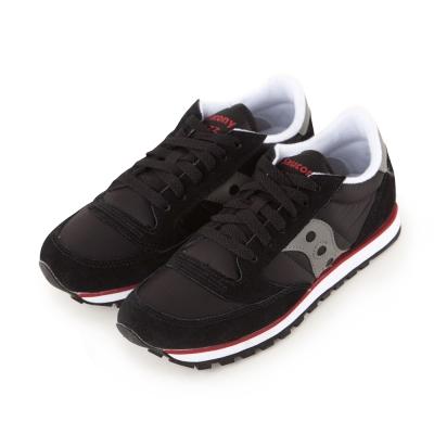 (女)美國 SAUCONY 經典時尚休閒輕量慢跑球鞋-黑灰