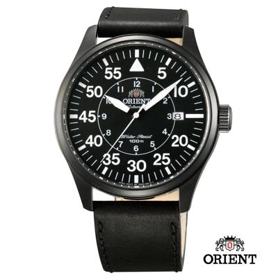 ORIENT 東方錶 Pilot Chronograph系列 飛行機械錶-黑色/42mm