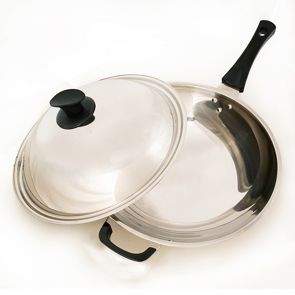 台灣好鍋  加賀系列七層不鏽鋼炒鍋(33cm)