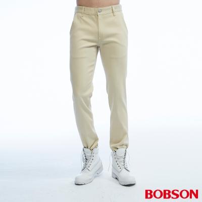 BOBSON 男款低腰吸濕快乾卡其色色褲