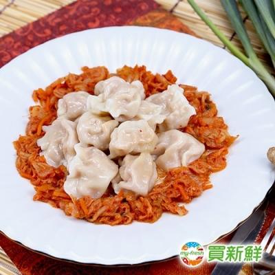 蔥阿嬸 手工韓式泡菜豬肉水餃20g±5%/粒(約50顆一袋)-任選