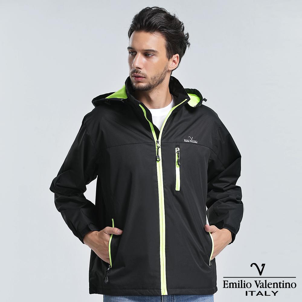 Emilio Valentino 范倫提諾運動防風外套-黑
