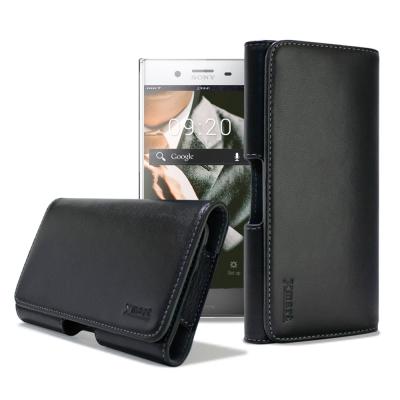 XM SONY XZ Premium / HTC U11 型男羊皮橫式腰掛皮套