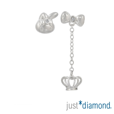 Just Diamond 18K金鑽石耳環-Bonjour! My Melody典雅皇冠