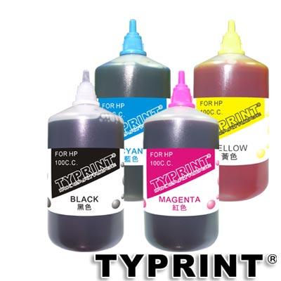 TY 『HP專用』 連續供墨補充墨水100CC (4色)