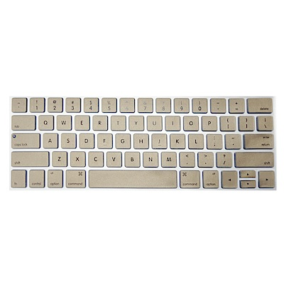【SHOWHAN】MacBook Pro Touch Bar 13吋英文鍵盤膜 金色