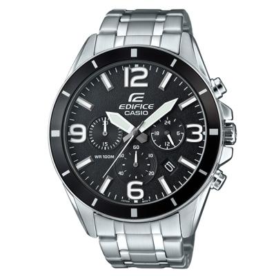 EDIFICE 都會時尚魅力落帥氣指針腕錶(EFR-553D-1B)黑面/47mm