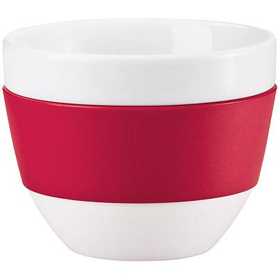 KOZIOL 卡布奇諾隔熱瓷杯(紅)