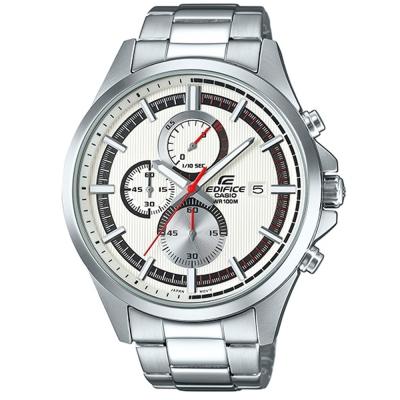 EDIFICE商務先驅超個性沉穩科技感賽車錶(EFV-520D-7A)白面47.2mm