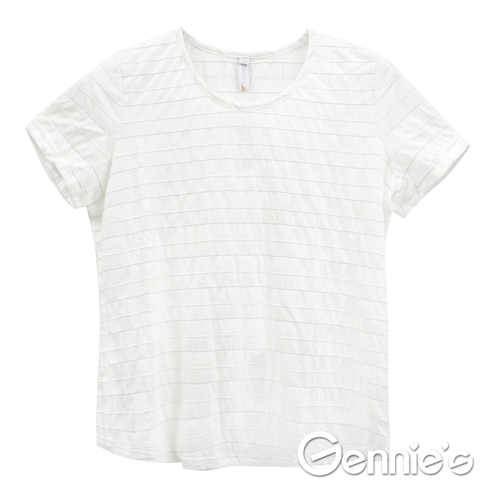 Gennies專櫃-簡約氣質休閒春夏孕婦上衣 (G3V98)