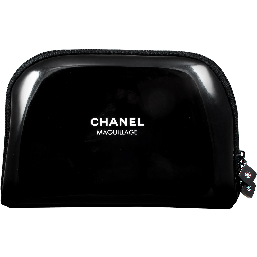 CHANEL 香奈兒 完美極黑漆皮化妝包