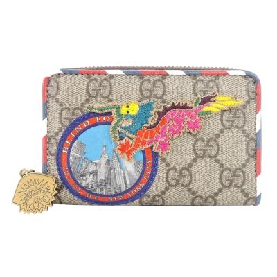 GUCCI Gucci Courrier 拼貼中國龍刺繡零錢夾