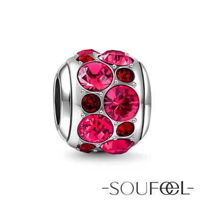 SOUFEEL索菲爾 925純銀珠飾 友情石 串珠