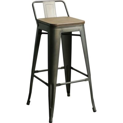 YOI傢俱 巴維爾工業風金屬吧台椅(高腳椅)44x44xH90cm