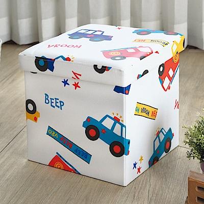 AS-可愛汽車摺疊收納椅凳-38x38x38cm