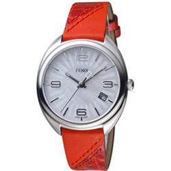芬迪 FENDI Momento放射紋飾腕錶-35mm/紅