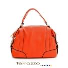 義大利Terrazzo-高質感都會經典保齡球牛皮包- 橘色 19E1006A10185