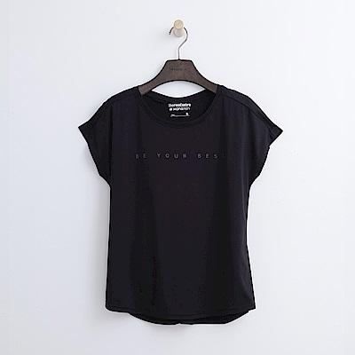 Hang Ten - 女裝 - ThermoContro假兩件機能T恤-黑色
