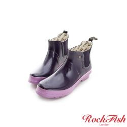 ROCKFISH 俏麗亮面裸靴 簡約系列 魅力紫