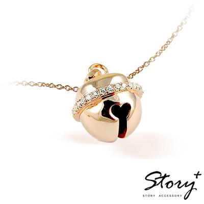 STORY故事銀飾-填言密語系列 - 傾聽愛語項鍊 (玫瑰金色)