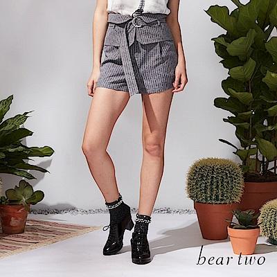 beartwo 率性高腰西裝短褲(二色)